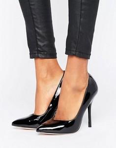 Туфли-лодочки на каблуке с острым носком Paper Dolls - Черный