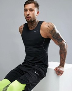 Черная майка Nike Training Hypercool Compression 801248-010 - Черный