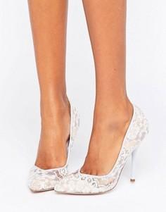 Туфли-лодочки с острым носком и кружевом Paper Dolls - Синий