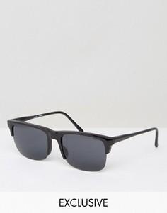 Солнцезащитные очки в стиле ретро Reclaimed Vintage - Черный