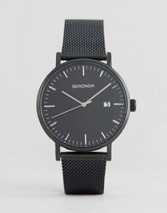 Черные часы с серебристым циферблатом Sekonda эксклюзивно для ASOS - Черный