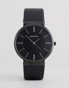 Часы с черным кожаным ремешком Sekonda эксклюзивно для ASOS - Черный
