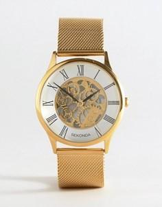 Часы с видимым механизмом Sekonda эксклюзивно для ASOS - Золотой