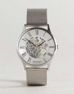 Часы с видимым механизмом Sekonda эксклюзивно для ASOS - Серебряный