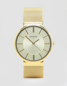 Золотистые часы с сетчатым ремешком Sekonda эксклюзивно для ASOS - Золотой