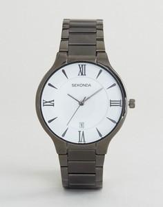 Часы с белым циферблатом и черным браслетом Sekonda эксклюзивно для ASOS - Черный
