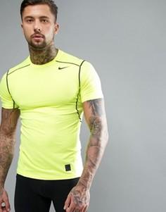 Желтая футболка Nike Training 801239-702 - Черный