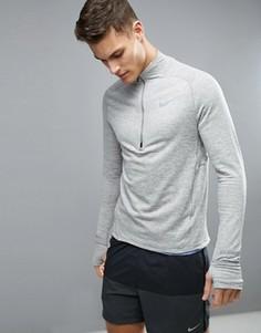 Серый свитшот с горловиной на молнии Nike Running 683906-003 - Серый
