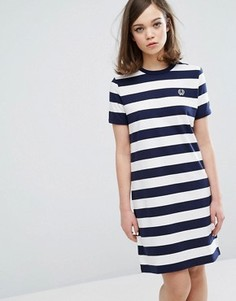 Платье-футболка в полоску Fred Perry Archive - Темно-синий