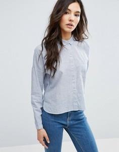 Прямая рубашка в полоску Only - Белый