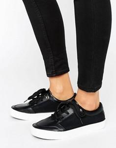 Кроссовки из искусственной кожи New Look - Черный