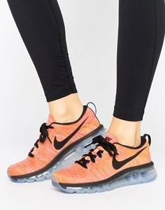 Оранжевые вязаные кроссовки Nike Running Flyknit Max - Оранжевый