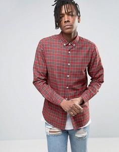 Рубашка классического кроя в клетку тартан ASOS - Красный