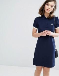 Платье-рубашка поло с кантом Fred Perry - Синий