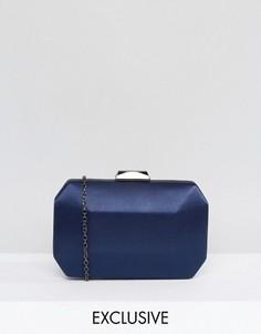 Атласный клатч Chi Chi London - Темно-синий