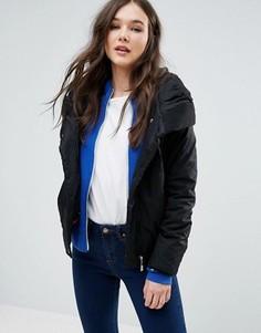 Дутое пальто со свободным воротом Girls On Film - Черный