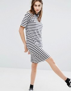 Свободное платье в полоску с высоким воротом Cheap Monday - Мульти