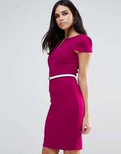 Платье-футляр с поясом Paper Dolls - Розовый