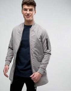 Длинная куртка Brave Soul - Серый