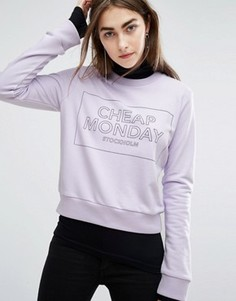 Свитшот с логотипом Cheap Monday - Фиолетовый