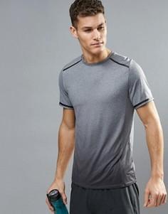 Серая меланжевая футболка с эффектом омбре New Look SPORT - Серый