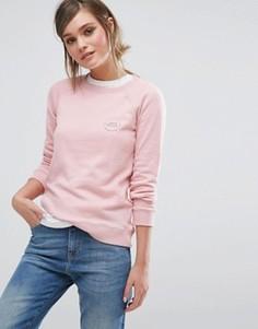 Свитшот с круглым вырезом и логотипом Jack Wills Colby - Розовый