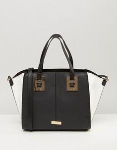 Черно-белая сумка-тоут Lipsy - Черный