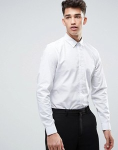 Белая рубашка классического кроя в горошек New Look - Белый