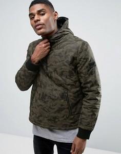 Куртка с камуфляжным принтом и капюшоном Black Seven Bruton - Зеленый
