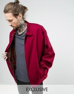 Oversize-куртка Харрингтон Reclaimed Vintage Revived - Красный