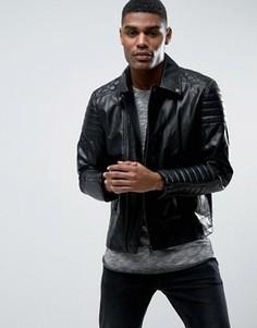 Байкерская куртка Black Seven Carnaby - Черный