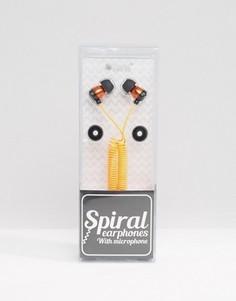 Оранжевые наушники с микрофоном - Оранжевый Gifts