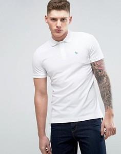 Белое облегающее поло с вышивкой лося Abercrombie & Fitch - Белый