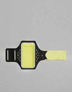 Желтый браслет на предплечье с держателем для телефона и светодиодными лампами Hama Active Sports XL - Желтый