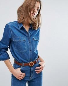 Джинсовая рубашка в стиле вестерн 70-х Levis Orange Tab - Синий