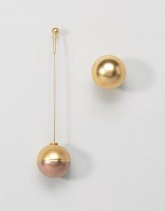 Асимметричные серьги AQAQ X Mawi - Золотой