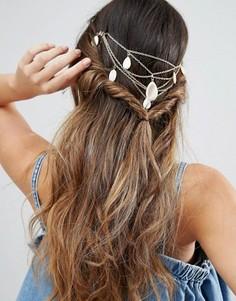 Украшение для волос с цепочками DesignB - Золотой