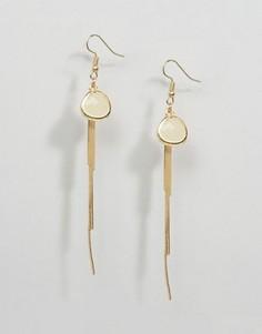 Серьги-подвески с камнями DesignB - Золотой