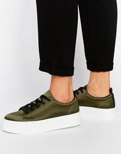 Атласные кроссовки на плоской подошве KG Ginny - Зеленый
