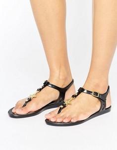 Черные сандалии с логотипом-орбитой Vivienne Westwood For Melissa - Черный
