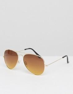 Золотистые солнцезащитные очки‑авиаторы ASOS - Золотой