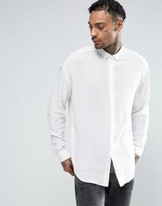 Желтовато-белая oversize-рубашка из вискозы ASOS - Белый