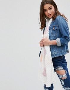 Легкий шарф в горошек Nali - Белый