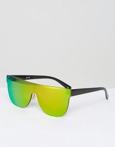 Солнцезащитные очки без оправы с плоским верхом ASOS - Красный