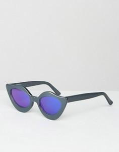 Солнцезащитные очки с синими зеркальными линзами House of Holland Lipstick - Синий