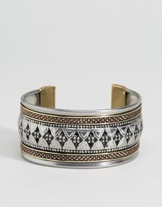 Металлический браслет-манжета с гравировкой ASOS - Мульти
