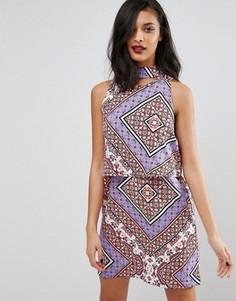Цельнокройное платье с принтом Influence - Мульти