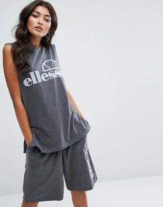 Комбинируемая футболка без рукавов с логотипом Ellesse - Серый
