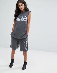 Комбинируемые баскетбольные шорты свободного кроя с логотипом Ellesse - Серый