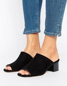 Туфли с открытой пяткой Faith - Черный